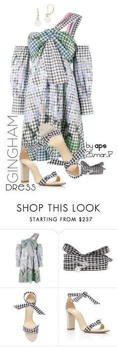 """""""SET #2224. The Gingham Dress"""" by annasousa-1 ❤ liked on Polyvore featuring Peter Pilotto, Miu Miu, Alexandre Birman, Lord & Taylor, contest, dress, gingham, notemplate and fashionset"""