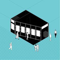 #architecture #axonometric #exhibitionstand #spaceconcept #collage #aplusnoima Architecture Graphics, Frankfurt, Collage, Stuttgart, Collage Illustration, Collages