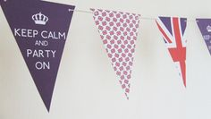 Union Jack Keep Calm & Party On Bunting by Ainjewelz