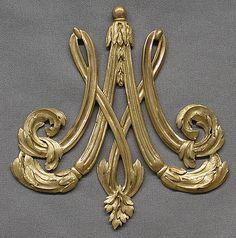 Vase ornament.  Date:     18th century. Culture:     French. Medium:     Bronze-gilt.