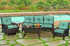 Comfortable and stylish, the Beacon Collection is a perfect addition for your backyard entertaining. A beautiful way to outfit your outdoor space now at Darvin Furniture.