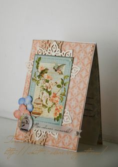 """""""For beloved mum"""" Secret Garden card from Marta Mazuryk shared on our Ning #graphic45 #cards"""