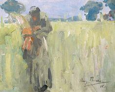 Harry Becker (British, 1865-1928) Woman gleaning