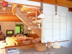 Séparation de pièce : entre une cuisine et un salon par une cloison japonaise