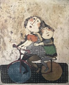 After School by Graciela Rodo Boulanger (Available in two sizes) Kids Bicycle, Bicycle Art, Bicycle Painting, Blue Horse, True Art, People Art, Weird And Wonderful, After School, Online Art Gallery