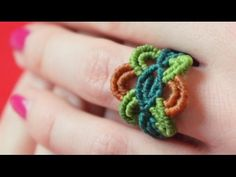 How to Make a Colorful Macrame Ring - Macramé Tutorial [DIY]