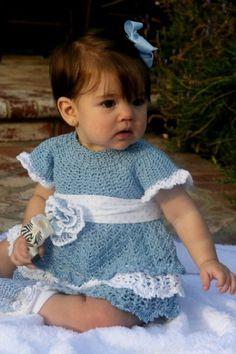 Baby Blues Dress -crochet