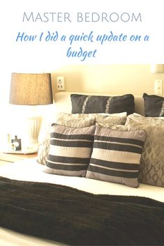 Bedroom Ideas astonishing decor plan - An amazing yet creative collection of tips and tricks. Filed at diy bedroom decorating ideas budget, shared on 20190116 Budget Bedroom, Diy Home Decor Bedroom, Cozy Bedroom, Bedroom Ideas, Small Master Bedroom, Master Bedroom Makeover, Decorating On A Budget, Interior Design, Clever