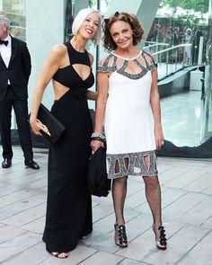 The Style of the 2013 CFDA Awards: Linda Fargo in Michael Kors with Diane von Furstenberg