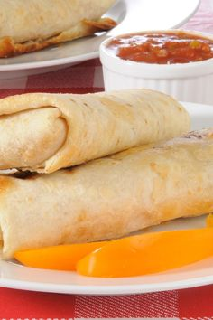 Baked Turkey and Jack Cheese Chimichangas Weight Watchers Recipe