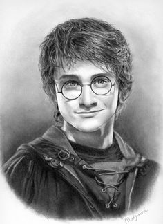 Daniel Radcliffe by Mayumi Ogihara on ARTwanted Harry Potter Drawings, Sketches, Harry Potter Portraits, Celebrity Drawings, Fantasy Collection, Harry Potter Sketch, Art, Harry Potter Painting, Portrait
