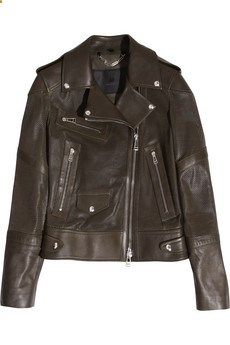Replay Biker Leather Jacket Size S Nwt