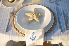 nautical place settings   CHECK OUT MORE IDEAS AT WEDDINGPINS.NET   #wedding
