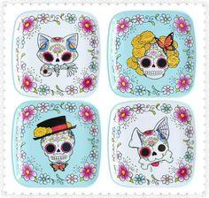 Sugar Skull Plates and more skull designs, inspirations and art at skullspiration.com