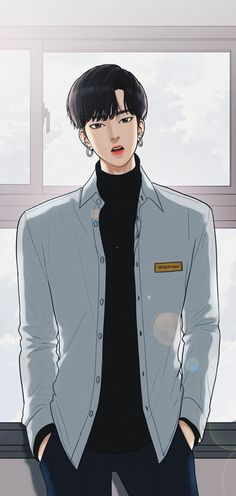 Seojun True Beauty from Webtoon Handsome Anime Guys, Cute Anime Guys, Anime Sexy, Anime Boys, Bad Boys, Cute Boys, Anime Couples, Cute Couples, Korean Anime