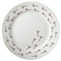 Größer sind als die Standard-Platten, mit birdy Fußabdrücke entlang der Kante    Durchmesser 27 cm  Kombiniert gut mit Birdy Plate (separat erhältl...