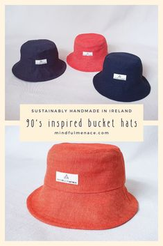 Street Style Summer, Sustainable Fashion, Bucket Hat, Vintage Outfits, Hats, Handmade, Inspiration, Hand Made, Hat