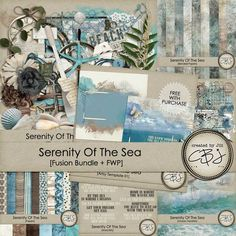 Serenity of the Sea: Created by Jill  https://www.pickleberrypop.com/shop/search.php?mode=search&page=1&keep_https=yes http://www.thedigichick.com/shop/search.php?mode=search&page=1
