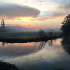 High drama over the river this morning ..... getting out early to buy fresh bread for breakfast is never a waste of time! #countrygirl #light #myfrenchcountryhome #normandy  #Regram via @sharonsantoni