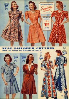 This is a marvelous 116-page catalog from a 1943 mail-order company. Over half the pages are in full color and include clothing for men, women, and children, shoes, hats, and a few household items as well. Read more... or add to cart: Read more...