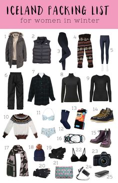Confused about what to pack for Iceland? Here's a female packing list for Iceland, including everything a woman needs to pack for Iceland in winter.