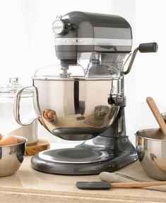 KitchenAid KP26M1X Stand Mixer, 6 Qt. Professional 600 - KitchenAid - Kitchen - Macy's  I NEED!!!!
