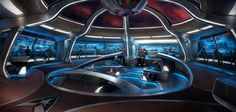 The USS Pegasus simulation assumes as canon the events of all Star Trek… - Universum Spaceship Interior, Futuristic Interior, Spaceship Art, Futuristic Architecture, Star Trek 4, Star Trek Bridge, Star Trek Ships, Star Trek Online, Cosmos