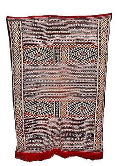 "Moroccan Handwoven Berber Tribal  Wool Kilim Kilem Area Rug Carpet 66""x55"""
