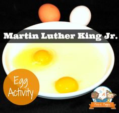 Egg Activity for Martin Luther King Jr. Day in Preschool and Kindergarten