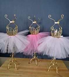 Ballerina Tutu Centerpieces/Gold Wire by StaziesStitchsNStuff
