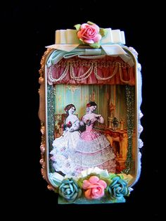 Jane and Elizabeth Altered Tin by fairydustedmermaids on Flickr