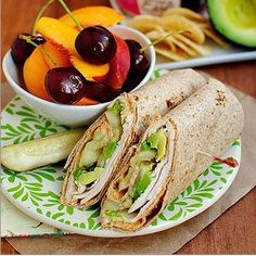5-Minute Turkey, Avocado, and Hummus Wrap. I added tomatoes too. These are a big hit with the kids and adults