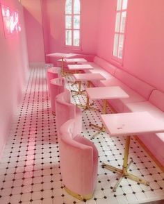Light pink room aesthetic neon lit corridor by house of bamboo Restaurant Design, Pink Restaurant, Sketch Restaurant, Roses Tumblr, Murs Roses, Table Rose, Tout Rose, Rose Bonbon, Rose Pastel