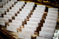 Escort card display at the Coyote wedding. Photo by Upstate Photographers.
