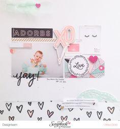 YAY - Layout mit Crate Paper Hello Love von Ulrike Dold