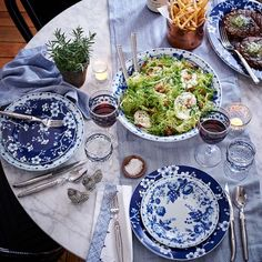 French Blue Bouquet Dinnerware Collection #williamssonoma