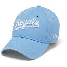 PINK Kansas City Royals Baseball Hat ($30) ❤ liked on Polyvore featuring accessories, hats, colorful hats, adjustable ball caps, cotton hat, colorful baseball caps and ball cap