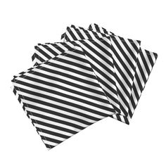 black white diagonal stripe Dinner Napkins by charlottewinter | Roostery Home Decor