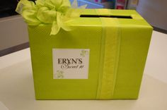Gift Card Box for a sweet 16 party @ Lisa's Gift Wrappers #giftcardbox