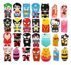 IPHONE 5 5s 4 4s 5c 3d animal cases silicone covers, also for iPod 4/5