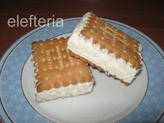 παγωτα σαντουιτς Party Buffet, Dessert Recipes, Desserts, Finger Foods, Sweet Recipes, Tiramisu, Waffles, Sweet Tooth, Cheesecake
