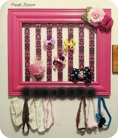 Adorable headband and bow storage for your little girl!