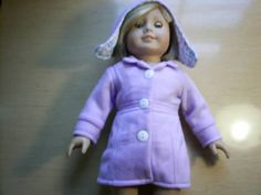 Hat and Coat for 18 inch american girl doll by Lindassewncreations on Etsy