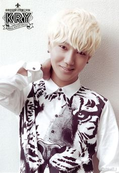 YeSung (Super Junior) Okay...love the hair and the shirt.