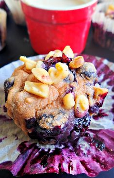 75 Calorie Whole Wheat Very Very Blueberry Muffins With a Vanilla Protein Glaze!