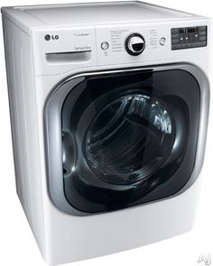 """LG DLEX8000W 29"""" Electric Steam Dryer with 9.0 cu. ft. Mega Capacity, 14 Drying Programs, 5 Temperature Settings, TrueSteam Technology and SteamFresh Cycle: White"""