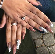 ??f????? ??: @giaaxoo †? (neutral nails acrylic)