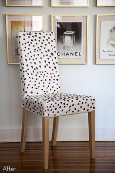Awesome patterned chair makeover / IKEA hack!
