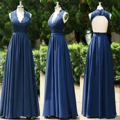 Don't know if you're planning to have bridesmaids/attendants matching, but this site has some discounts-free shipping, $90.56/Piece:buy wholesale 2014 Navy Blue V Neck Sheath Chiffon Cheap Bridesmaid Dresses Convertible Backless lace Appliques Formal Evening Dress Prom Gowns SU42 SSJ from DHgate.com,get worldwide delivery and buyer protection service.