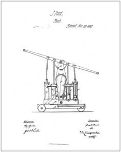 1st Fire Pump, 1870, patented by J. Icard.